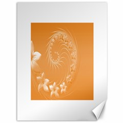 Orange Abstract Flowers Canvas 36  X 48  (unframed)