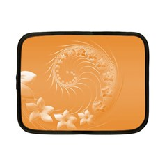 Orange Abstract Flowers Netbook Case (small)