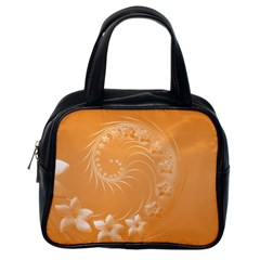 Orange Abstract Flowers Classic Handbag (One Side)