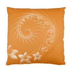 Orange Abstract Flowers Cushion Case (One Side)