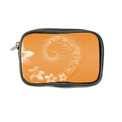 Orange Abstract Flowers Coin Purse