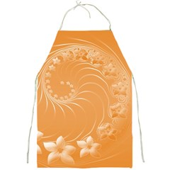 Orange Abstract Flowers Apron