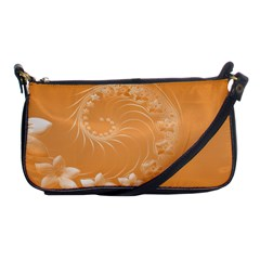 Orange Abstract Flowers Evening Bag