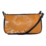 Orange Abstract Flowers Evening Bag Front