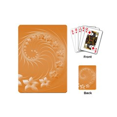 Orange Abstract Flowers Playing Cards (mini)