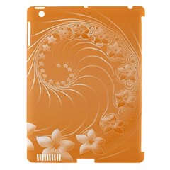Orange Abstract Flowers Apple Ipad 3/4 Hardshell Case (compatible With Smart Cover)