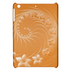 Orange Abstract Flowers Apple Ipad Mini Hardshell Case