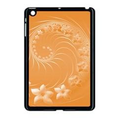 Orange Abstract Flowers Apple Ipad Mini Case (black)