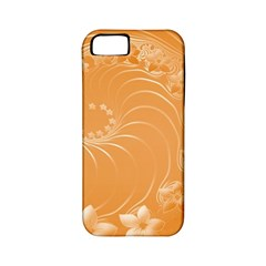 Orange Abstract Flowers Apple iPhone 5 Classic Hardshell Case (PC+Silicone)
