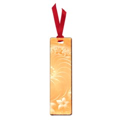 Orange Abstract Flowers Small Bookmark