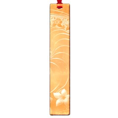 Orange Abstract Flowers Large Bookmark