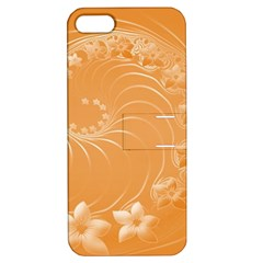 Orange Abstract Flowers Apple iPhone 5 Hardshell Case with Stand