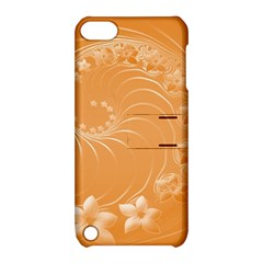Orange Abstract Flowers Apple iPod Touch 5 Hardshell Case with Stand