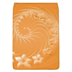 Orange Abstract Flowers Removable Flap Cover (Large)
