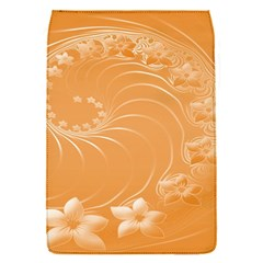 Orange Abstract Flowers Removable Flap Cover (Small)