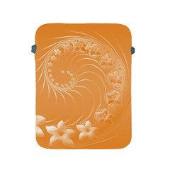Orange Abstract Flowers Apple iPad 2/3/4 Protective Soft Case