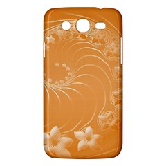 Orange Abstract Flowers Samsung Galaxy Mega 5.8 I9152 Hardshell Case