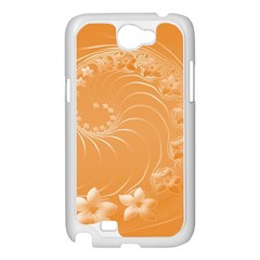 Orange Abstract Flowers Samsung GALAXY Note2 (white)