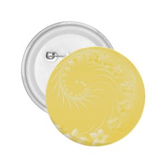 Yellow Abstract Flowers 2.25  Button