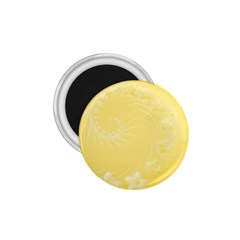 Yellow Abstract Flowers 1.75  Button Magnet