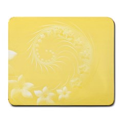 Yellow Abstract Flowers Large Mouse Pad (Rectangle)