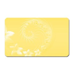 Yellow Abstract Flowers Magnet (Rectangular)