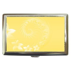 Yellow Abstract Flowers Cigarette Money Case