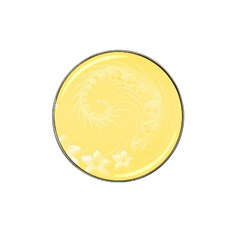 Yellow Abstract Flowers Golf Ball Marker 10 Pack (for Hat Clip)