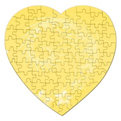 Yellow Abstract Flowers Jigsaw Puzzle (Heart)