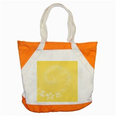 Yellow Abstract Flowers Accent Tote Bag