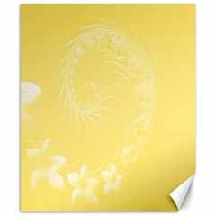 Yellow Abstract Flowers Canvas 8  x 10  (Unframed)
