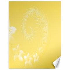 Yellow Abstract Flowers Canvas 18  x 24  (Unframed)