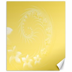 Yellow Abstract Flowers Canvas 20  x 24  (Unframed)