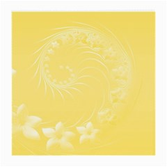 Yellow Abstract Flowers Glasses Cloth (Medium, Two Sided)