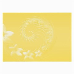 Yellow Abstract Flowers Glasses Cloth (Large)
