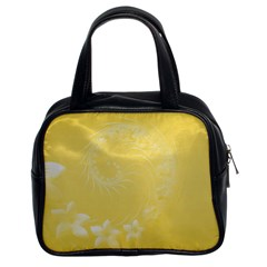 Yellow Abstract Flowers Classic Handbag (two Sides)