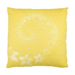 Yellow Abstract Flowers Cushion Case (Two Sides)