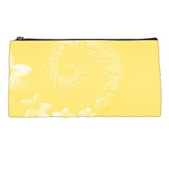 Yellow Abstract Flowers Pencil Case