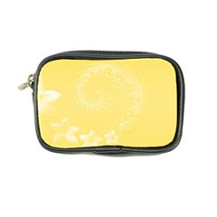 Yellow Abstract Flowers Coin Purse