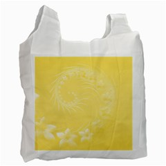 Yellow Abstract Flowers Recycle Bag (One Side)