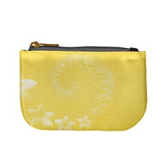 Yellow Abstract Flowers Coin Change Purse