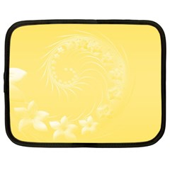 Yellow Abstract Flowers Netbook Case (XL)