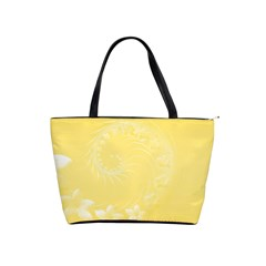 Yellow Abstract Flowers Large Shoulder Bag