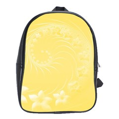 Yellow Abstract Flowers School Bag (large)