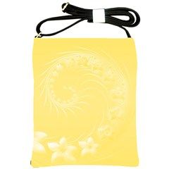 Yellow Abstract Flowers Shoulder Sling Bag