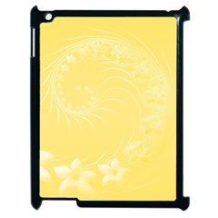 Yellow Abstract Flowers Apple iPad 2 Case (Black)