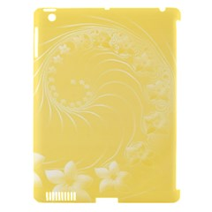 Yellow Abstract Flowers Apple iPad 3/4 Hardshell Case (Compatible with Smart Cover)