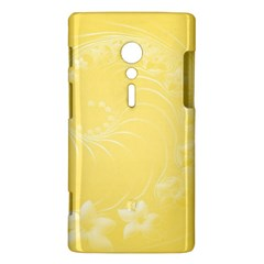 Yellow Abstract Flowers Sony Xperia ion Hardshell Case