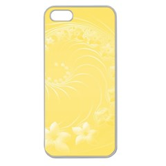 Yellow Abstract Flowers Apple Seamless iPhone 5 Case (Clear)
