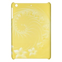 Yellow Abstract Flowers Apple iPad Mini Hardshell Case